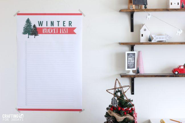 Printable Winter Bucket List - download this and make some memories this winter! via www.thirtyhandmadedays.com