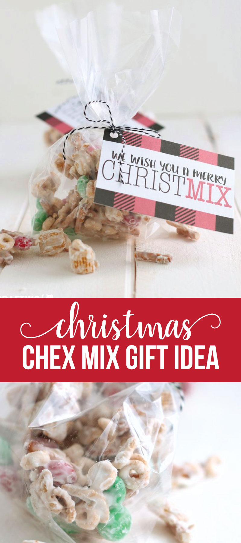 Want to make your friends and neighbors feel special but not brake the bank? Make these cheap Christmas gifts and deliver to them! Christmas Chex Mix plus printable via www.thirtyhandmadedays.com