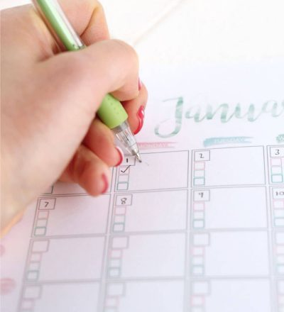 Free printable Goal Setting Calendar- use this to help accomplish all of your goals in the new year. via thirtyhandmadedays.com from Crafting E