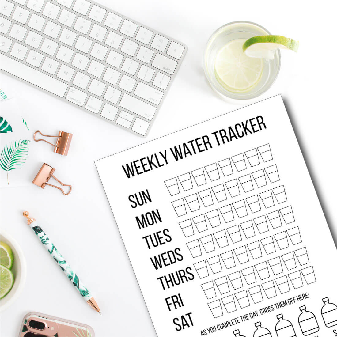 How Much Water Should You Drink in a Day? Tips for ways to drink more water. Printable Weekly Water Tracker from www.thirtyhandmadedays.com