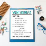 Printable Winter Break Rules