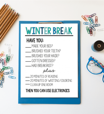 Printable Winter Rules via www.thirtyhandmadedays.com