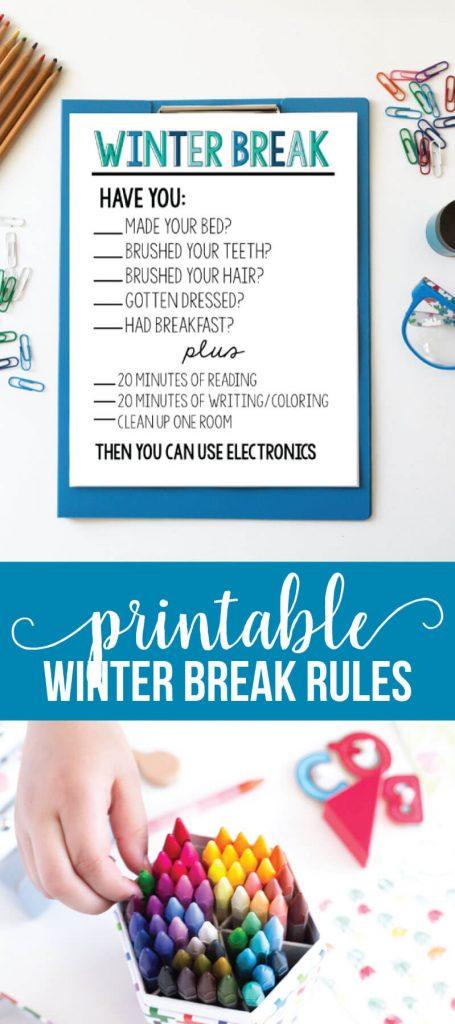 Printable Winter Rules via www.thirtyhandmadedays.com