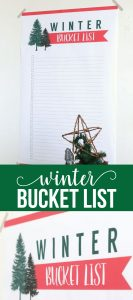 Printable Winter Bucket List - download this and make some memories this winter!