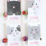 FREE Printable Cat Valentine Cards