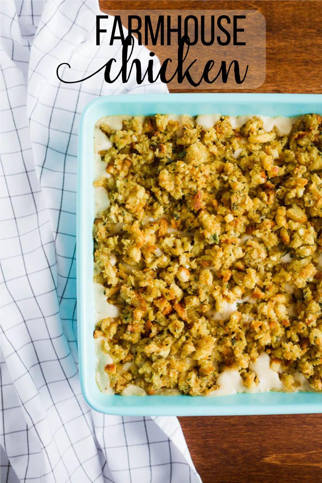 Easy Baked Chicken Recipes - Farmhouse Chicken - tasty and easy to make. www.thirtyhandmadedays.com