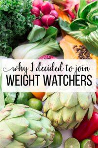 Why I decided to join Weight Watchers - www.thirtyhandmadedays.com