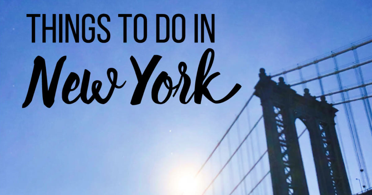 Things to do in new york for New york special things to do