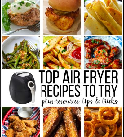 Top Air Fryer Recipes to Try - resources, tips and tricks to using your device. www.thirtyhandmadedays.com