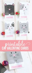 Free Printable Cat Valentine Day via CraftingE www.thirtyhandmadedays.com
