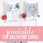 Free Printable Cat Valentine Day via CraftingE www.thirtyhandmadedays.com