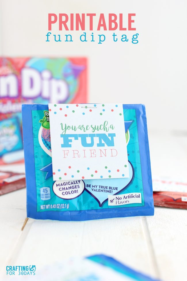 Printable Valentines Day Cards - use this fun dip idea for your kids!