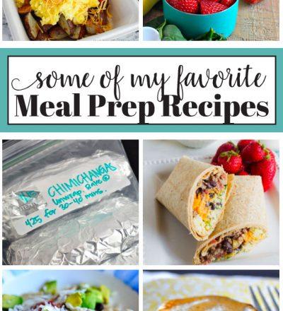 Some of my favorite Meal Prep Recipes from www.thirtyhandmadedays.com