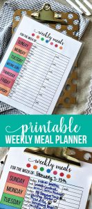 Printable Weekly Meal Planner - use this to get your calendar ready for meal prep. www.thirtyhandmadedays.com