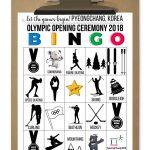 Winter Olympics 2018 BINGO