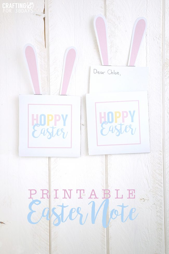 Printable Easter Bunny Note - use these for the holiday!