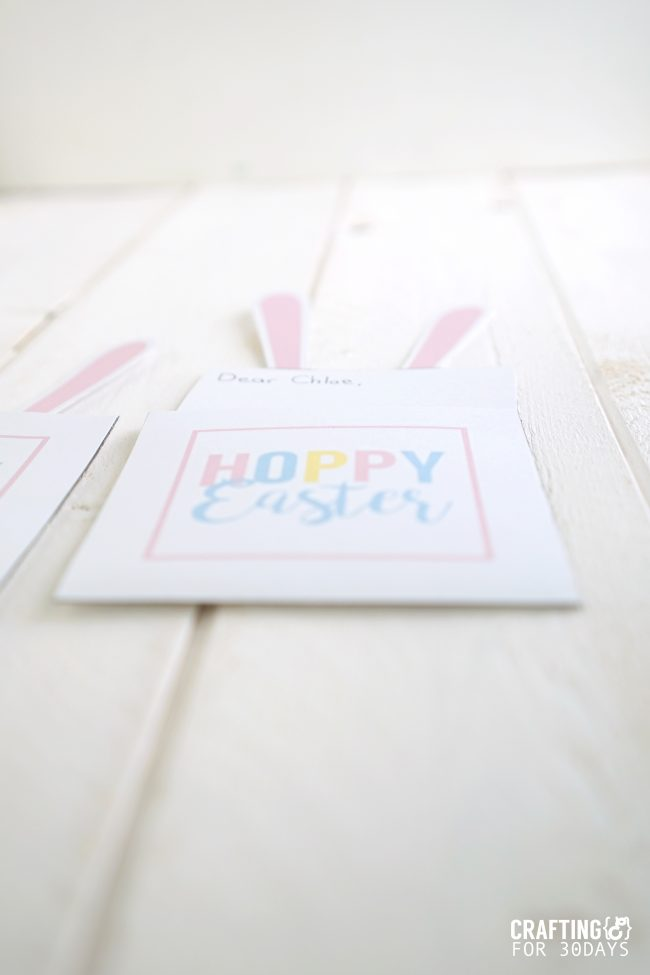 Printable Easter Bunny Note - use these for the holiday! from www.thirtyhandmadedays.com