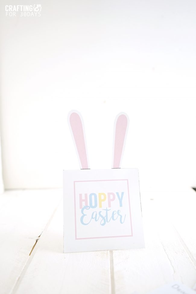 Printable Easter Bunny Note - use these for the holiday! www.thirtyhandmadedays.com