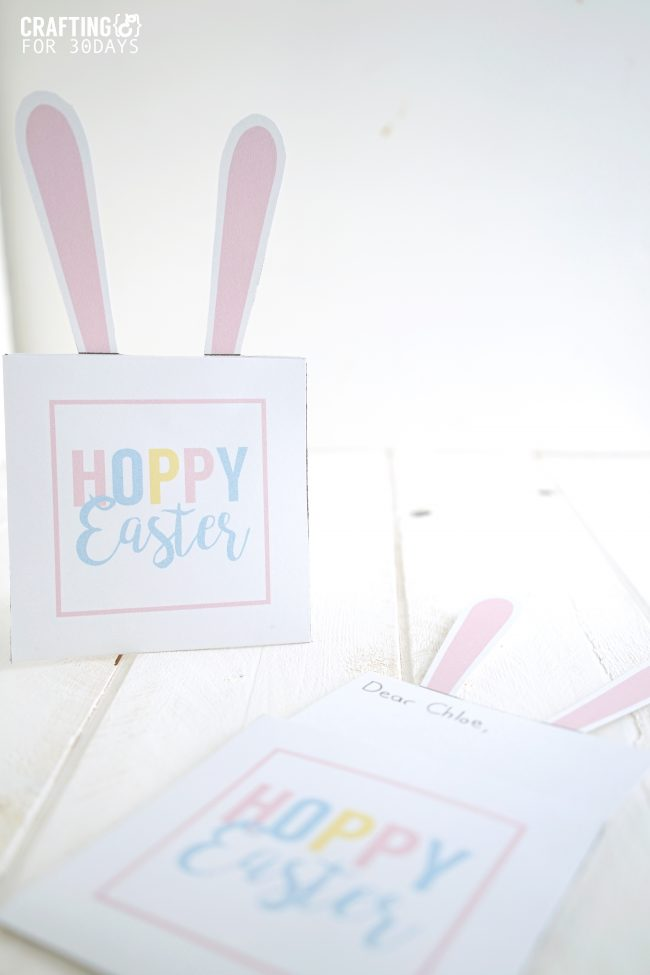 Easter Bunny Note - use these printables for the holiday!