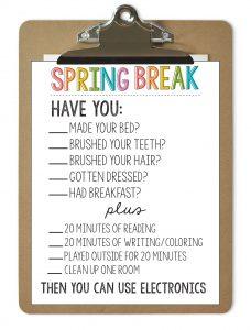 Printable Spring Break Rules from www.thirtyhandmadedays.com