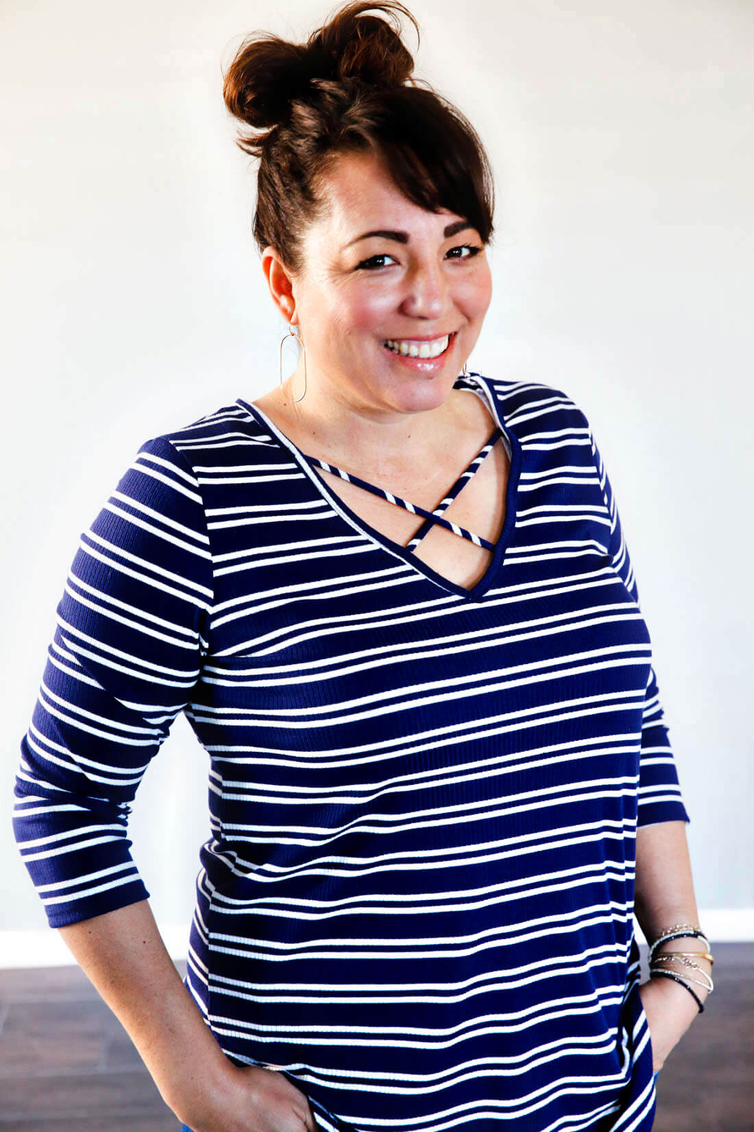 One more Stitch Fix Review - striped cross top