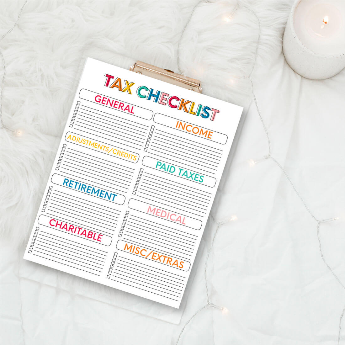 Printable Tax Forms - use these forms to keep track for taxes from www.thirtyhandmadedays.com