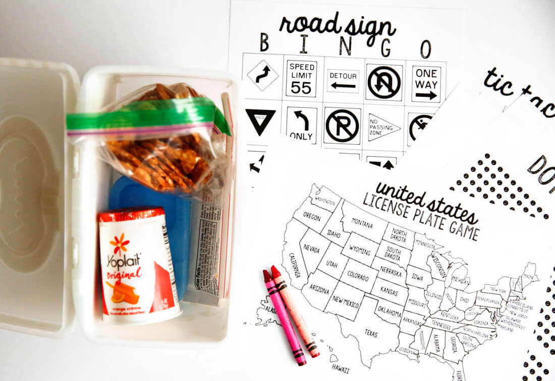 Yoplait Yogurt yogurt bites for Spring Break Road Trip Hacks plus printables www.thirtyhandmadedays.com