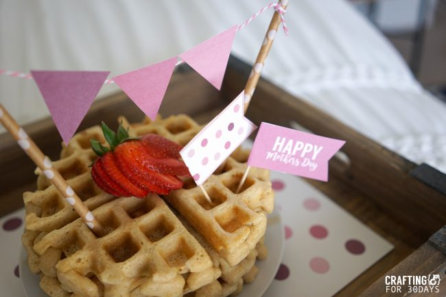 Mother's Day printable kit for breakfast in bed