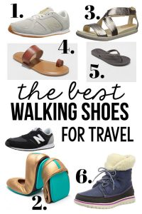 Best Walking Shoes for Travel - these are my go to shoes that I take with me while traveling! www.thirtyhandmadedays.com