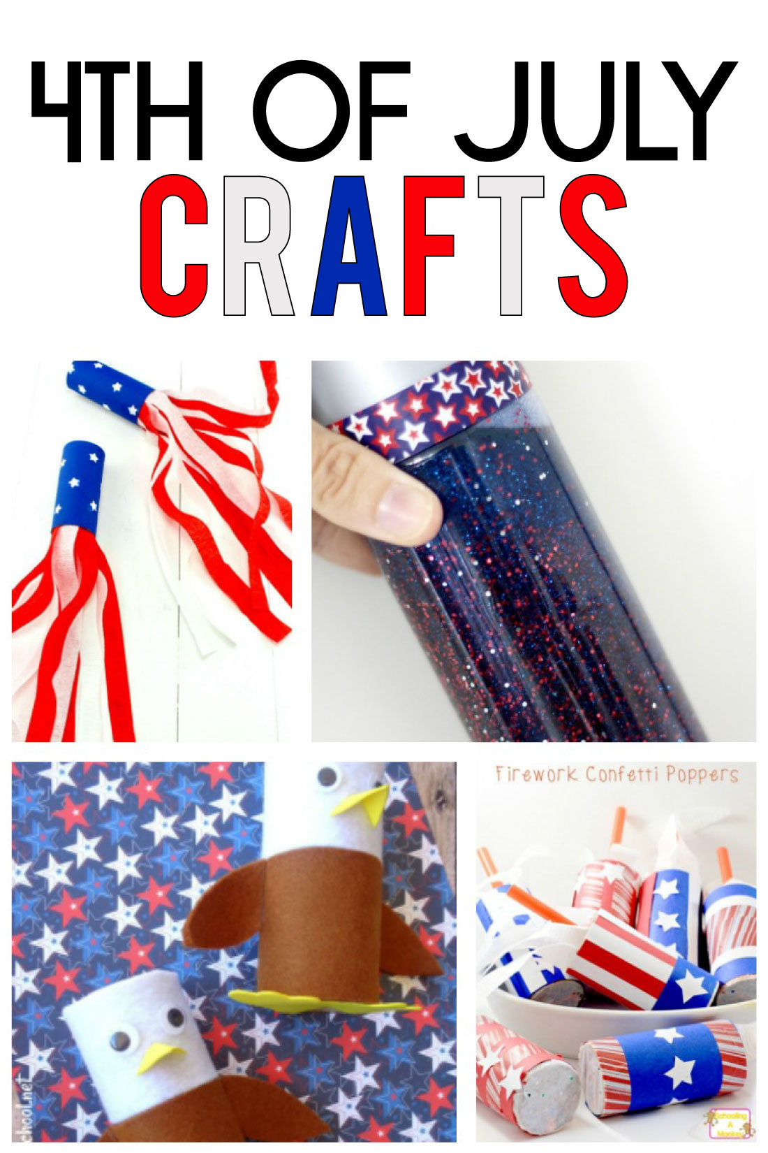 4th of July Crafts - all kinds of crafts to make with your kids for this holiday. www.thirtyhandmadedays.com