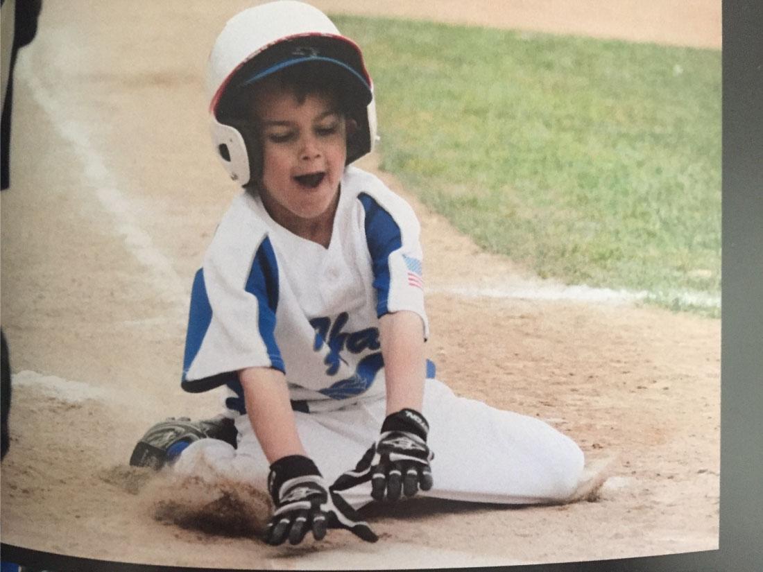 Drew's first baseball team