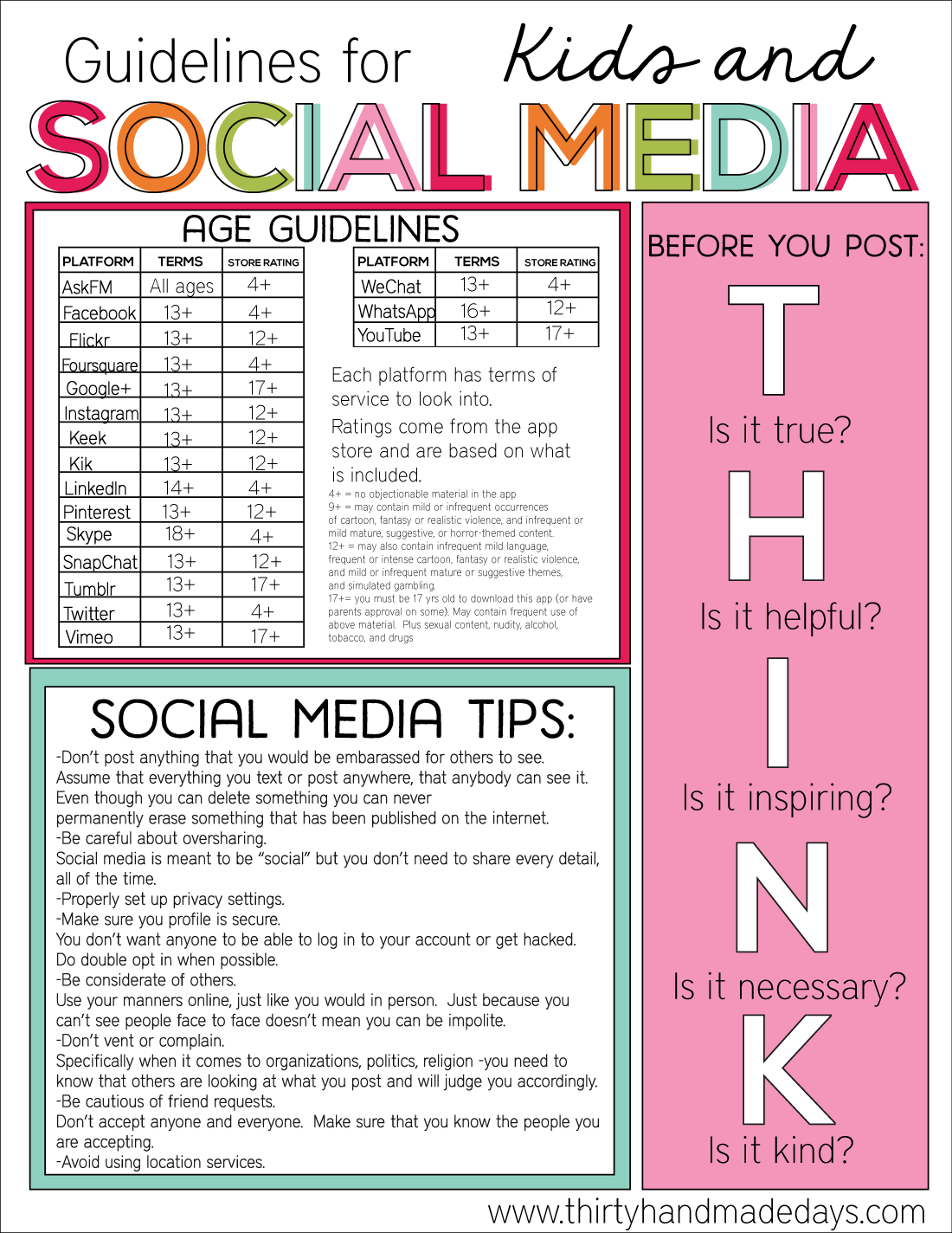 Guidelines for Kids and Social Media