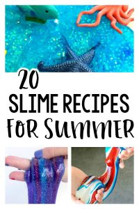 20 Slime Recipes for Summer - all kinds of fun slime to make from www.thirtyhandmadedays.com
