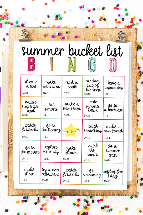 Summer Bucket List BINGO - use this as a guide for a fun summer with your kids! www.thirtyhandmadedays.com