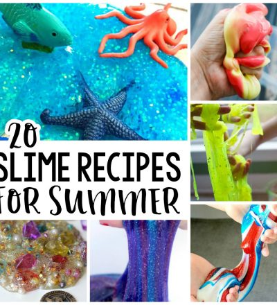 20 Slime Recipes for Summer - all kinds of fun slime to make via www.thirtyhandmadedays.com