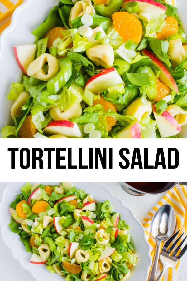 Tortellini Salad - a different take on salad! It has all kind of good ingredients in it. via www.thirtyhandmadedays.com