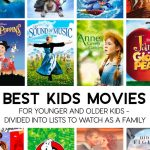 Best Kids Movies - a list of appropriate kid movies broken down by younger and older kids. www.thirtyhandmadedays.com