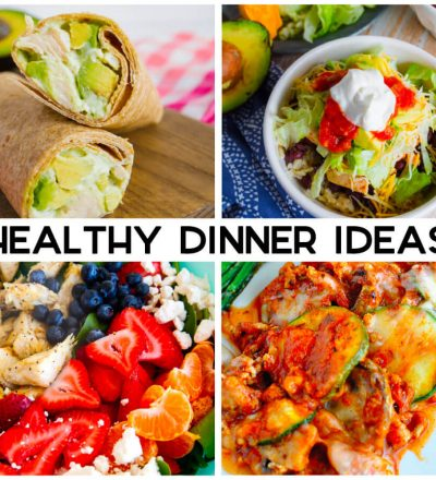 Healthy Dinner Ideas - a little something for everyone, salad, chicken and more.