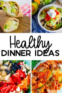 Healthy Dinner Ideas - a little something for everyone, salad, chicken and more. www.thirtyhandmadedays.com