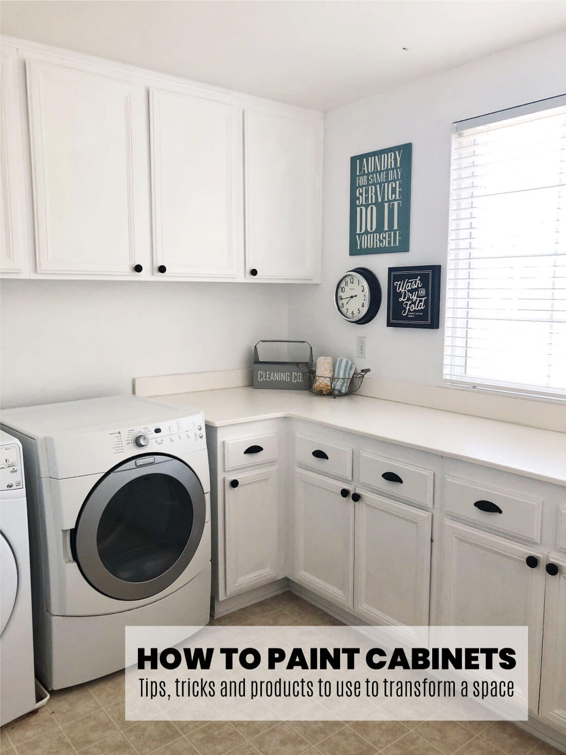 How to Paint Cabinets - the tips, tricks and resources to use to transform your space on the cheap.