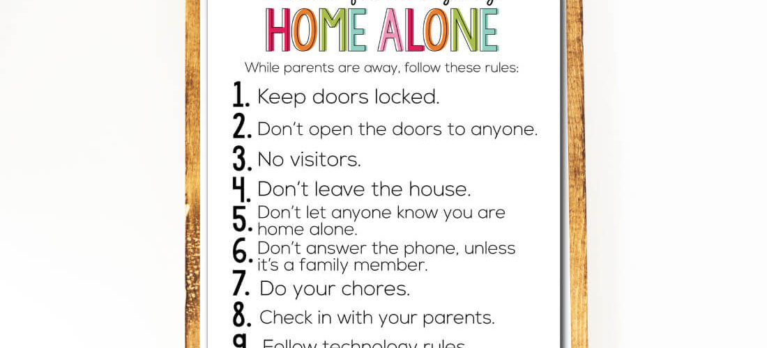 What To Do When Home Alone