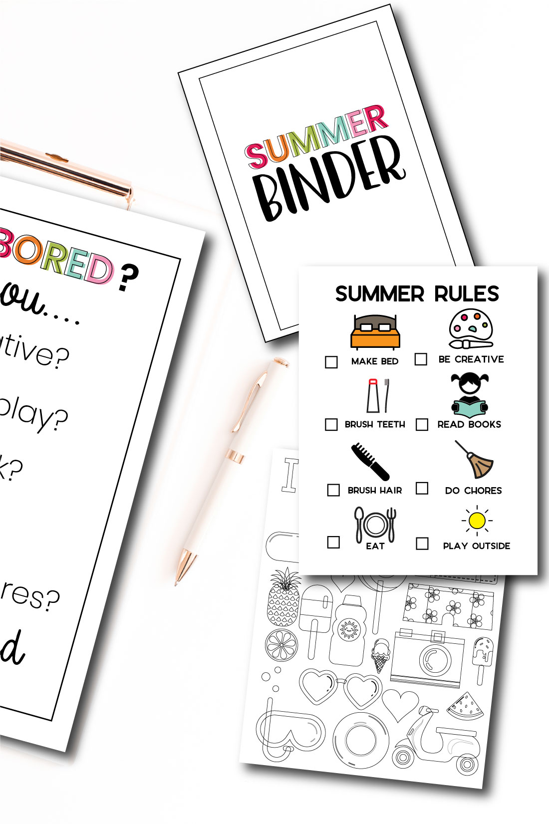 Printable Summer Bundle with over 15 editable files www.thirtyhandmadedays.com