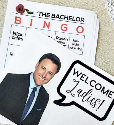 the Bachelorette Finale - includes printables to throw a party. www.thirtyhandmadedays.com