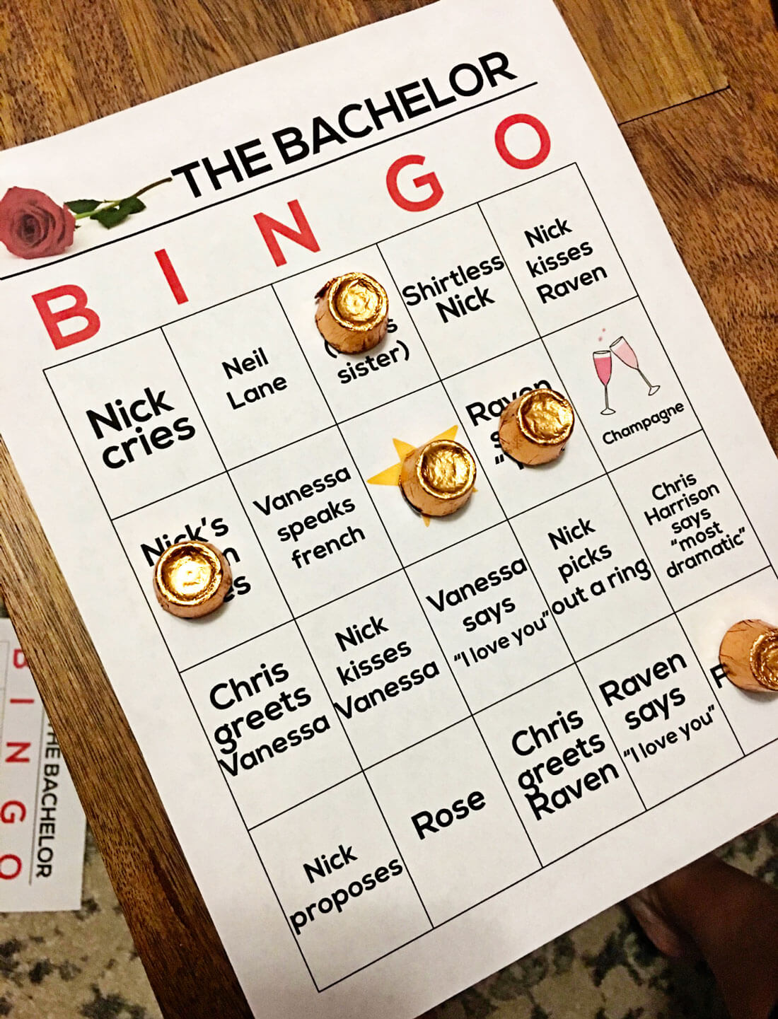 the Bachelorette finale BINGO