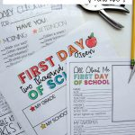 Back to School Bundle - includes an editable daily checklist and other editable printables. www.thirtyhandmadedays.com