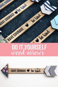 Girls Camp Crafts - learn how to make these cute arrows. www.thirtyhandmadedays.com