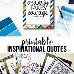 Printable Short Inspirational Quotes - download to inspire!