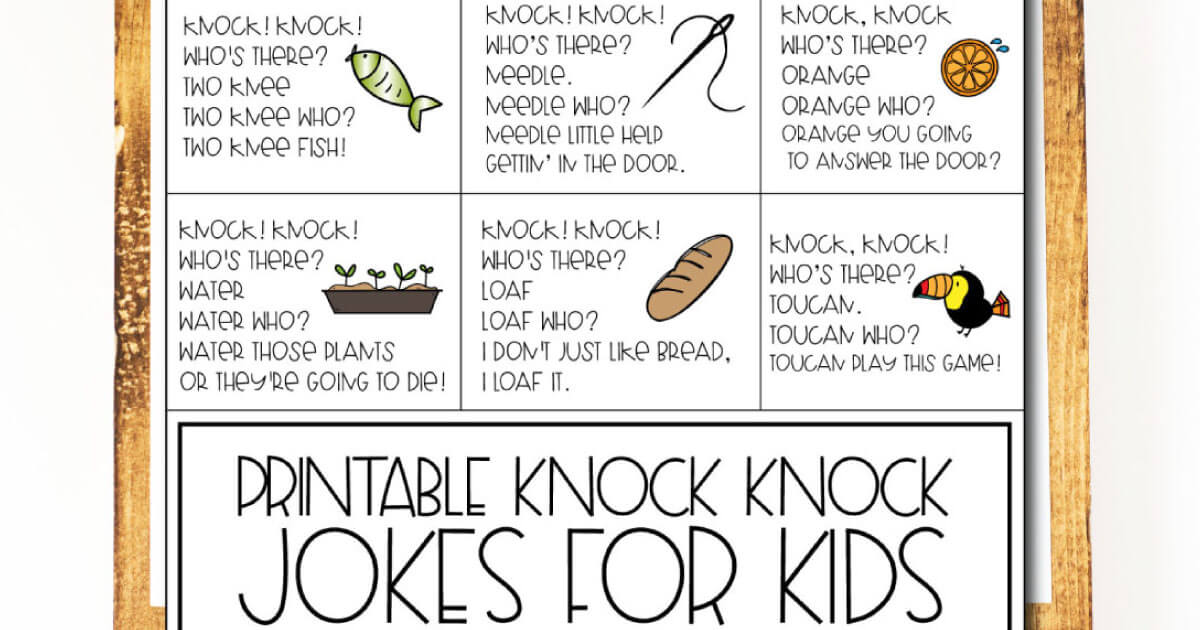 picture about Printable Jokes for Kids named Jokes for Young children