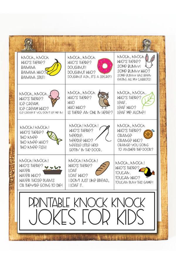 Knock Knock Jokes for Kids - fun way to brighten your kids day! www.thirtyhandmadedays.com