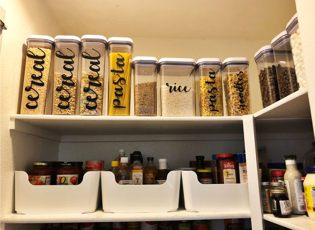Pantry Organization - my favorite kind of containers
